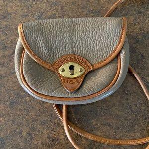 Dooney & Bourke Leather Crossbody Bag Brown Purse